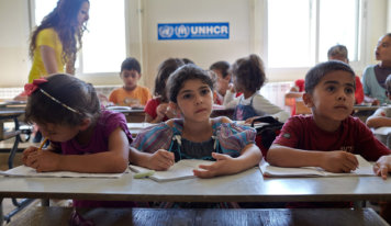 reports crisis in refugee education