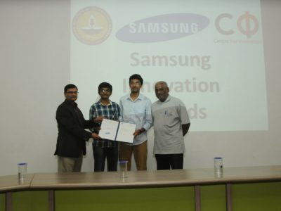 Samsung R&D Institute- Bangalore Wins the National Intellectual Property Award 2018