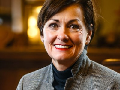 Iowa governor says dad's appointment was 'just like' others